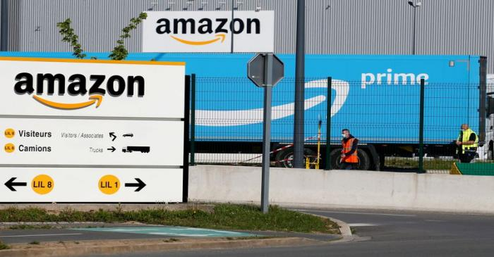 FILE PHOTO: Amazon logistics center in Lauwin-Planque