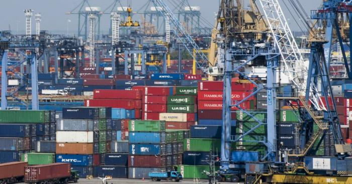 Containers are seen at the Port of Tanjung Priok, the country's busiest, in North Jakarta,