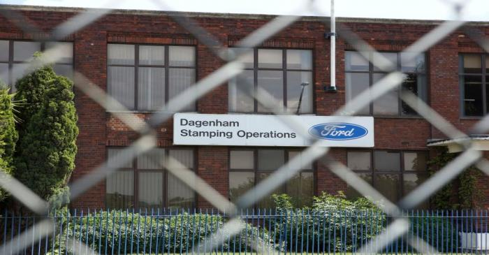 FILE PHOTO: Ford's stamping operations plant is seen in Dagenham, east London