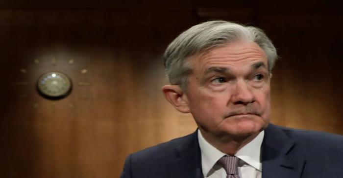 FILE PHOTO: Federal Reserve Chairman Jerome Powell testifies on Capitol Hill