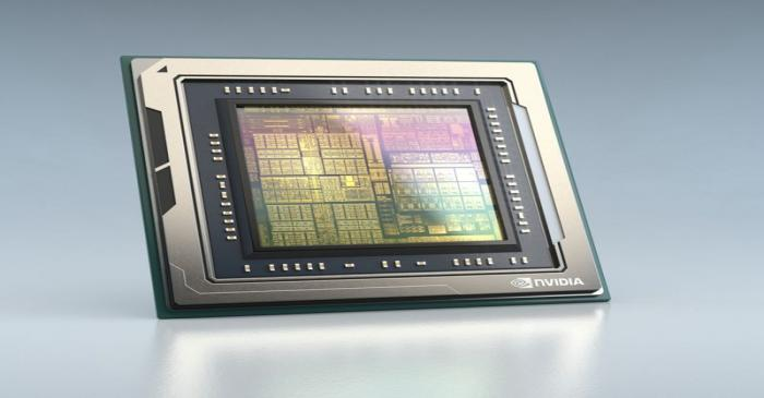 FILE PHOTO: A rendered image of the NVIDIA Orin chip