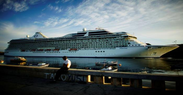 FILE PHOTO: U.S. Norwegian Cruise Line Holdings cruise ship Marina arrives at the Havana bay