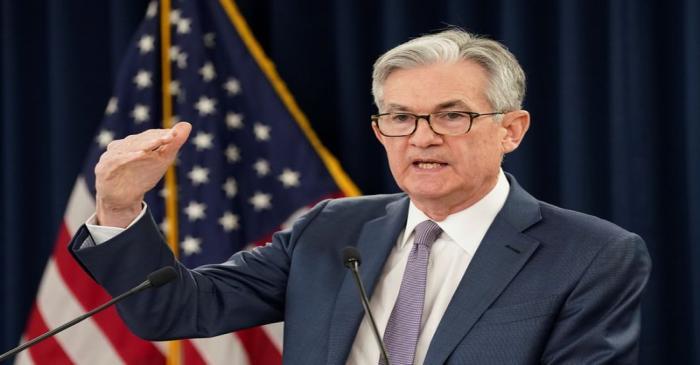 FILE PHOTO: U.S. Federal Reserve Chairman Jerome Powellspeaks in Washington