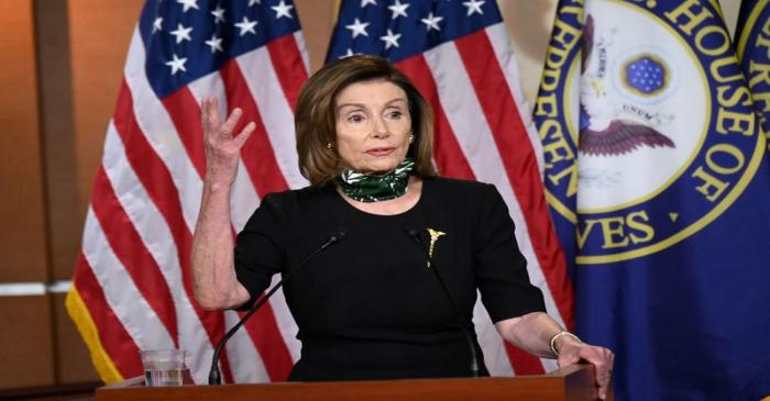 FILE PHOTO: House Speaker Pelosi holds her weekly news conference with Capitol Hill reporters