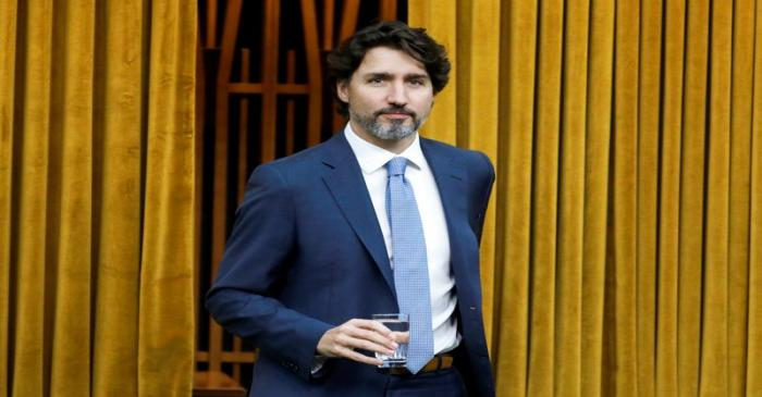 Canada's Prime Minister Justin Trudeau arrives to a meeting of the special committee on the