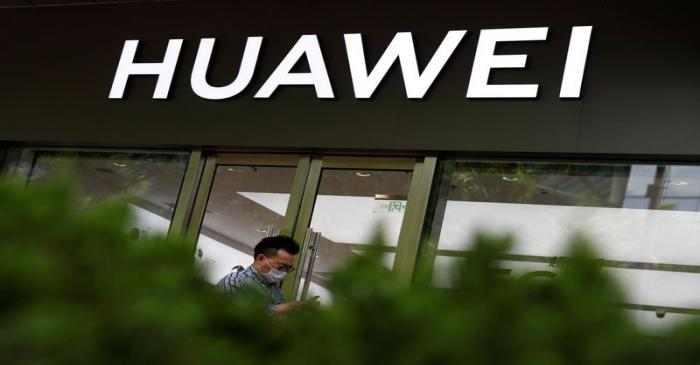 FILE PHOTO: A Huawei shop, amid an outbreak of the coronavirus disease (COVID-19), in Beijing