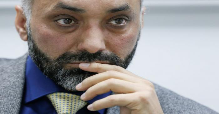 Paramjit Kahlon, chief executive of ArcelorMittal CIS, speaks during an interview with Reuters