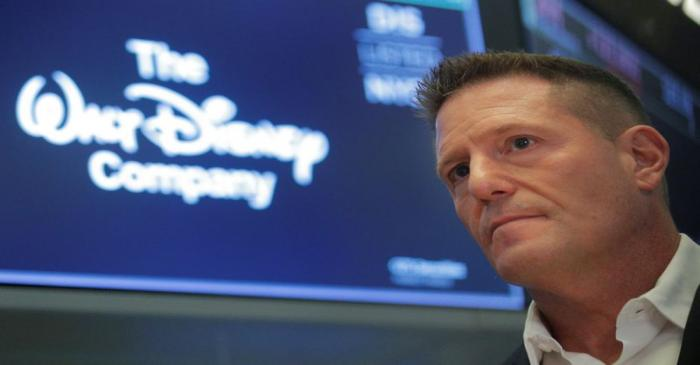 Kevin Mayer, Disney's head of direct-to-consumer division, on the floor at the NYSE in New York