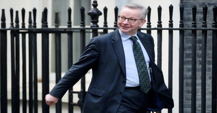 FILE PHOTO: Britain's Chancellor of the Duchy of Lancaster Michael Gove arrives at a cabiet