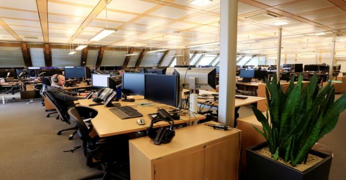 FILE PHOTO: The trading floor of Norges Bank Investment Management, the Nordic countryÕs