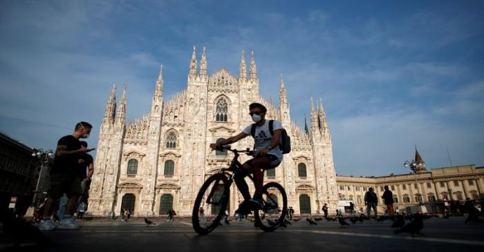 FILE PHOTO: The coronavirus disease (COVID-19) outbreak in Milan