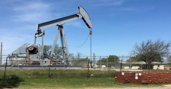 FILE PHOTO: An oil pumpjack is seen in Velma, Oklahoma