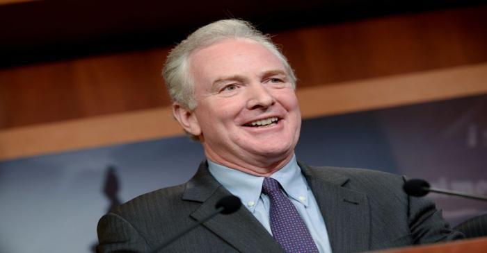 Sen. Van Hollen announces a bipartisan agreement on Turkey sanctions during a news conference