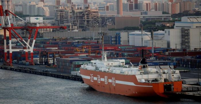 FILE PHOTO: An industrial port is pictured in Tokyo