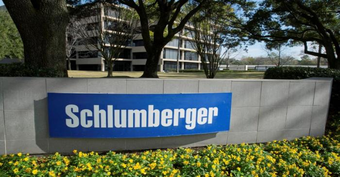 FILE PHOTO: The exterior of a Schlumberger Corporation building is pictured in West Houston