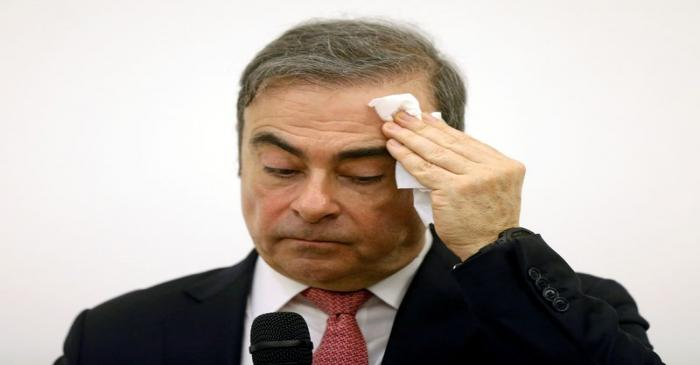 FILE PHOTO: Former Nissan chairman Carlos Ghosn attends a news conference at the Lebanese Press