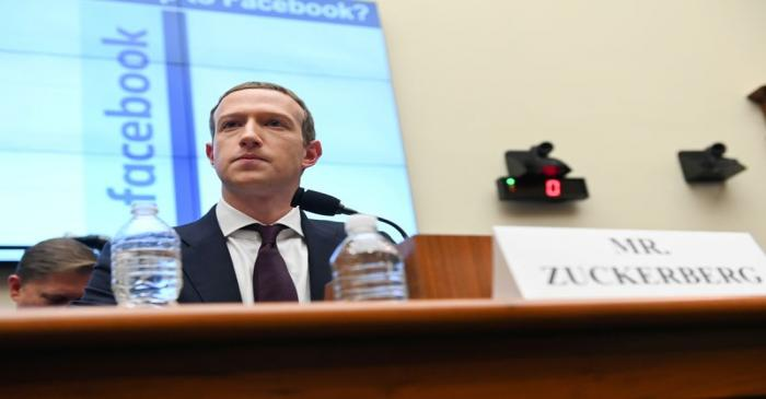 FILE PHOTO: Facebook Chairman and CEO Zuckerberg testifies at a House Financial Services
