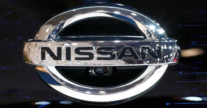 FILE PHOTO: A Nissan logo is pictured at Brussels Motor Show