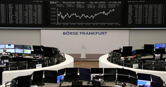 FILE PHOTO: The German share price index DAX graph is pictured at the stock exchange in