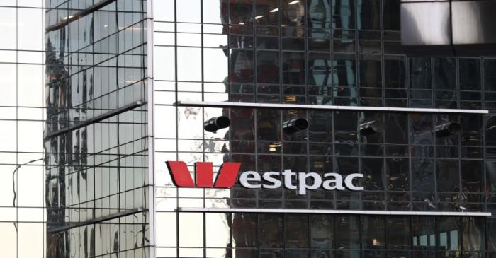 An office building with Westpac logo is seen in Sydney