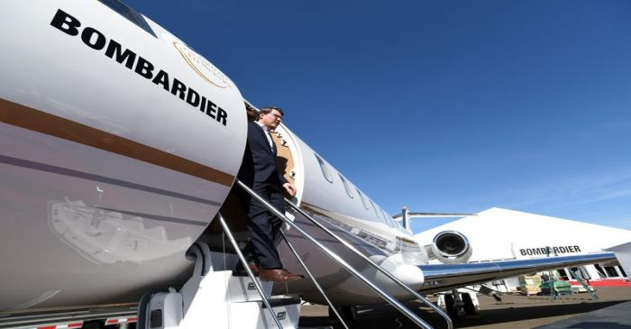 FILE PHOTO: FILE PHOTO: a Bombardier Global 6500 business jet at the National Business Aviation