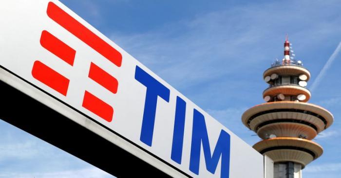 FILE PHOTO: Telecom Italia new logo is seen at the headquarter in Rozzano neighbourhood of