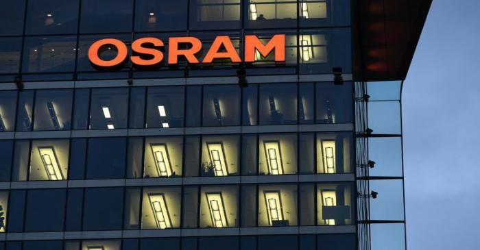 General view of the headquarters of German lighting manufacturer Osram in Munich