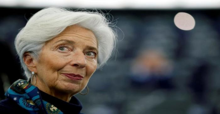 FILE PHOTO: European Central Bank President Lagarde addresses the European Parliament in