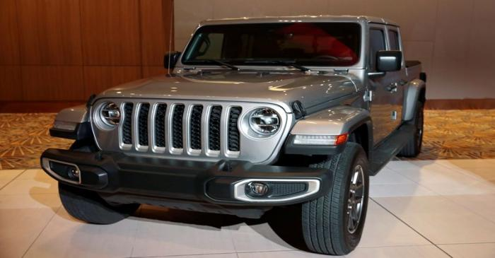 The 2020 North American Truck of the Year, 2020 FCA Jeep Gladiator, is displayed during the