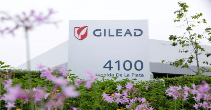 FILE PHOTO: Gilead Sciences Inc pharmaceutical company is seen during the outbreak of the