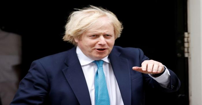 FILE PHOTO: Boris Johnson leaves Downing Street