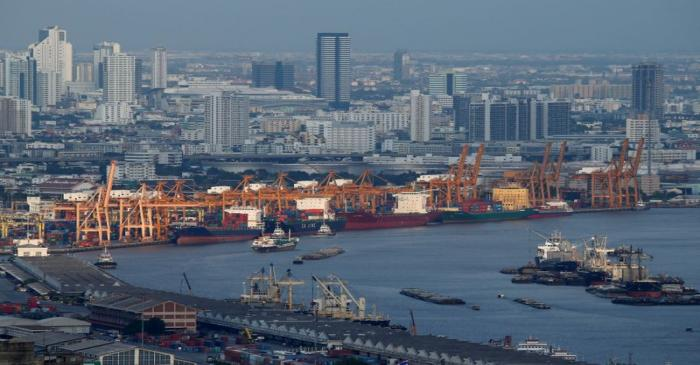 A view of the port of Bangkok