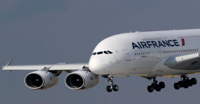 Air France Airbus A380 retirement flight near Paris
