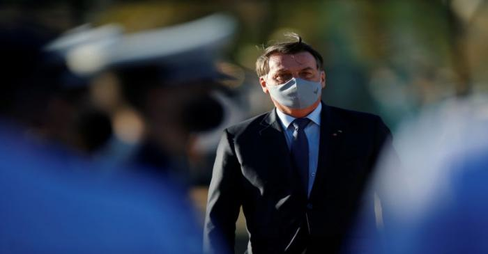 Brazil's President Jair Bolsonaro attends the inauguration ceremony of the Main Space