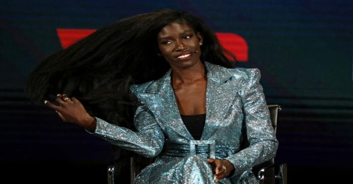 Bozoma Saint John, CMO of William Morris Endeavor, speaks on stage at the Women In The World