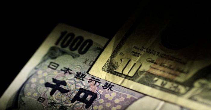 Ilustration photo of U.S. dollar and Japan Yen notes