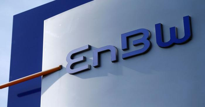 FILE PHOTO: A logo of German power supplier EnBW Energie Baden-Wuertemberg AG is pictured at