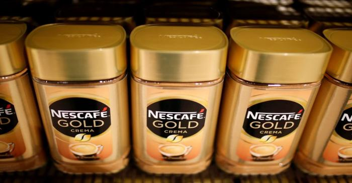 FILE PHOTO: Jars of Nescafe Gold coffee by Nestle are pictured in the supermarket of Nestle