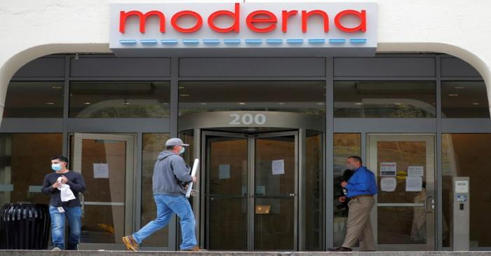 FILE PHOTO: Moderna Therapeutics seen during COVID-19 in Massachusetts