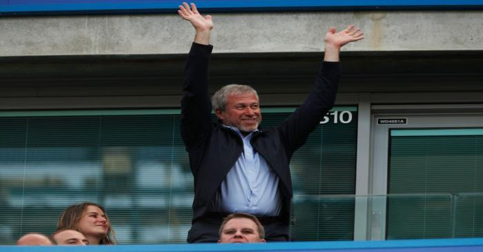 FILE PHOTO: Chelsea owner Roman Abramovich in the stands