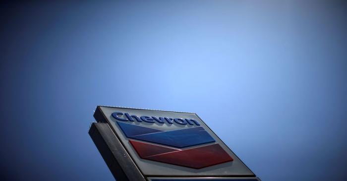 Chevron (CVX)'s logo is seen in Los Angeles