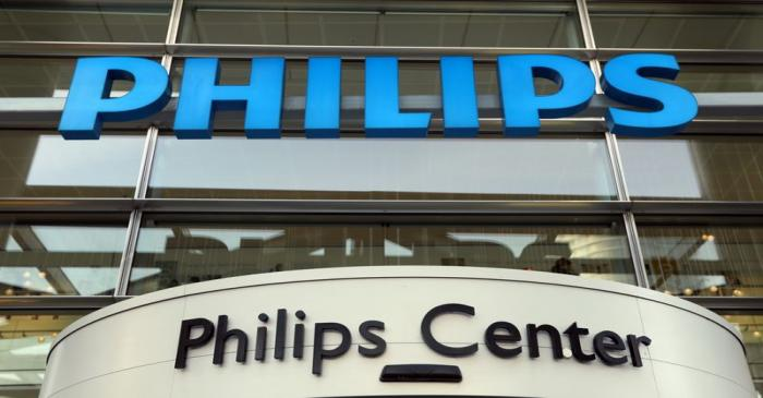 Dutch health technology company Philips presents the company's financial results for the fourth