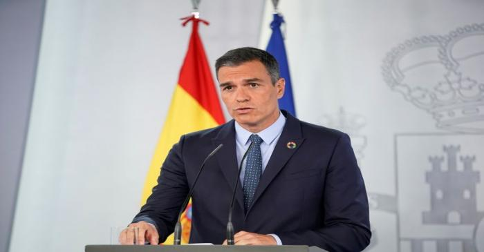 FILE PHOTO: News conference of Spanish Prime Minister Pedro Sanchez in Madrid