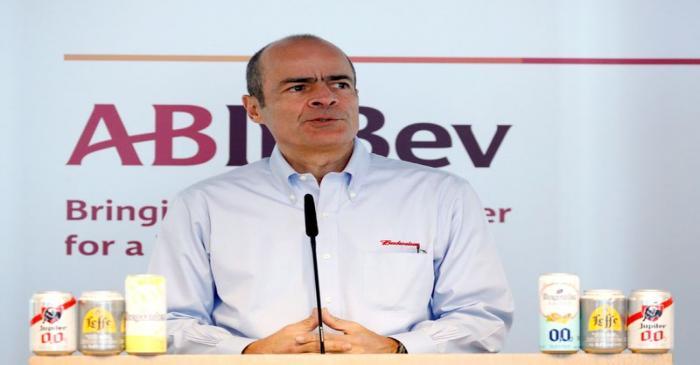 AB InBev CEO Brito presents the company's results in Leuven