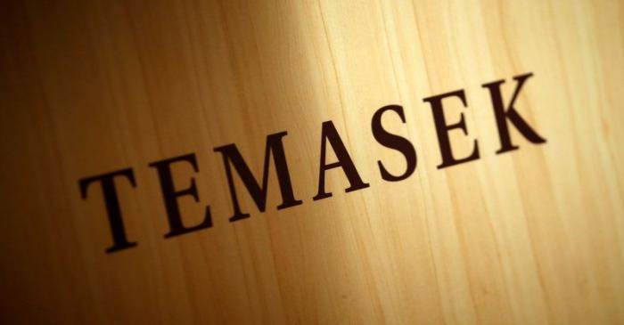 FILE PHOTO: A Temasek logo is seen at the annual Temasek Review in Singapore