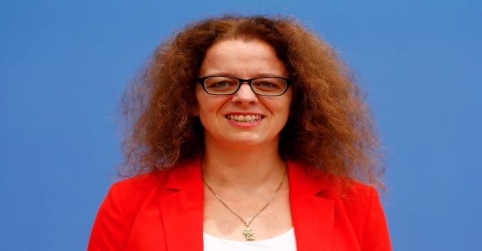 FILE PHOTO: Member of the German advisory board of economic experts Isabel Schnabel poses ahead