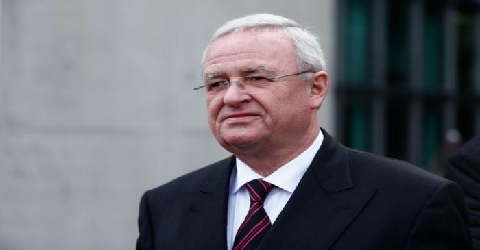 Former Volkswagen CEO Winterkorn leaves after testifying to a parliamentary committee on the