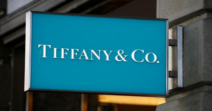 Logo of U.S. jeweller Tiffany & Co. is seen at a store at the Bahnhofstrasse shopping street in