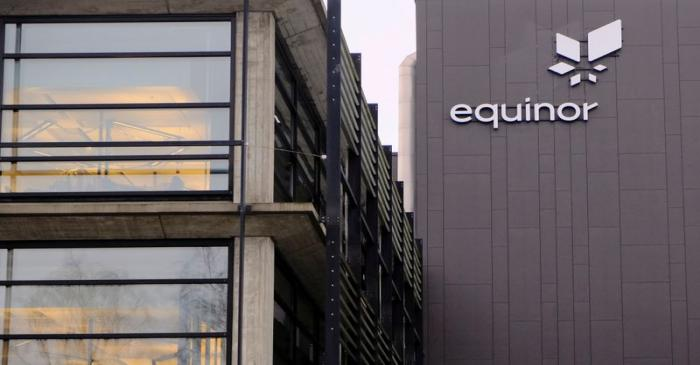 FILE PHOTO: Equinor's logo is seen at the company's headquarters in Stavanger