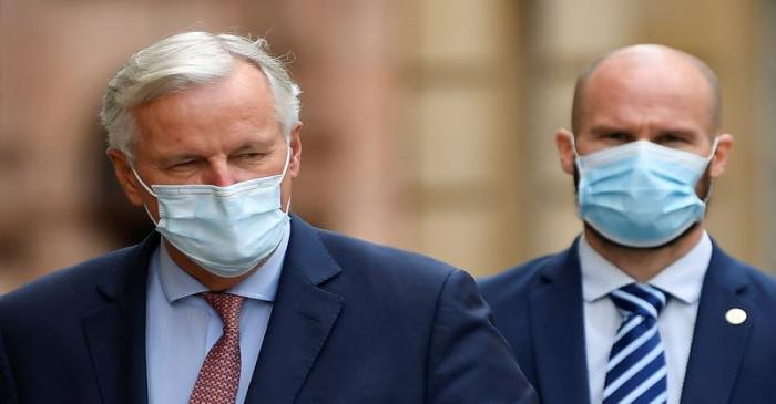 EU chief negotiator Michael Barnier attends the EU-Brexit talks in central London